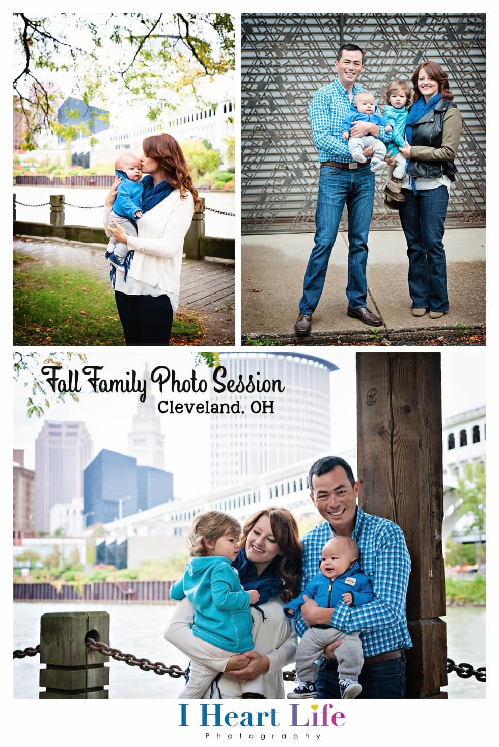 Lakewood Family   Photo Session in downtown Cleveland   Modern + Vibrant