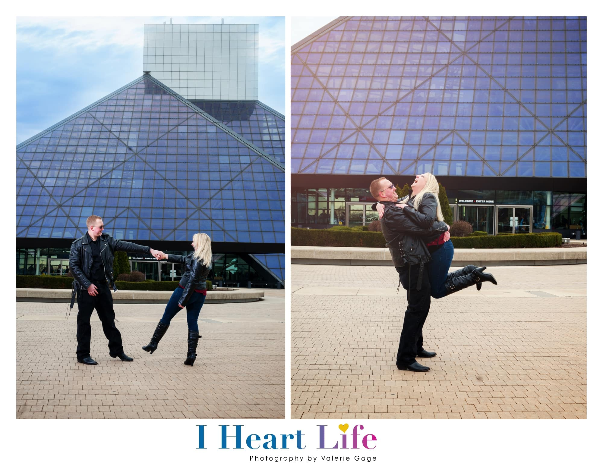 unposed engagement session in Cleveland Ohio